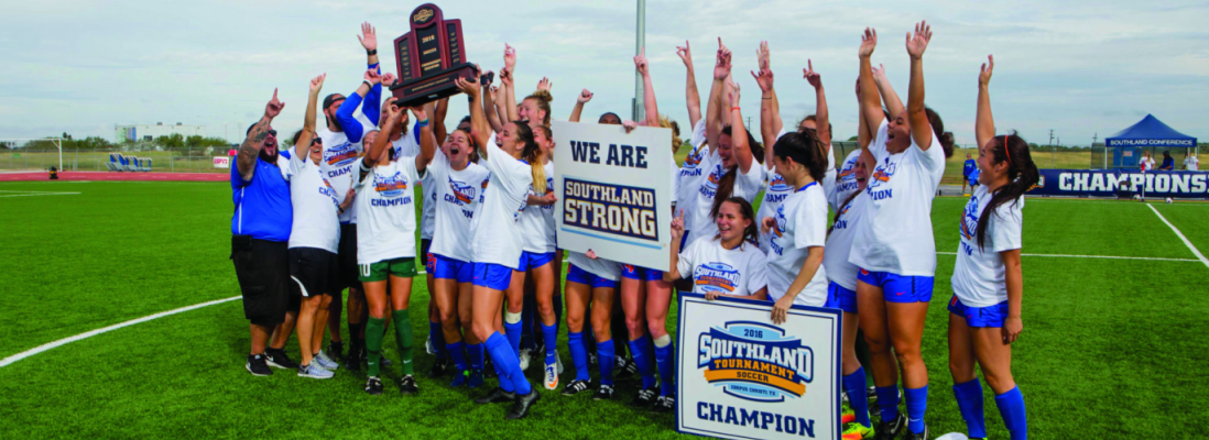 Women's Soccer Wins Southland conference Tournament Championship