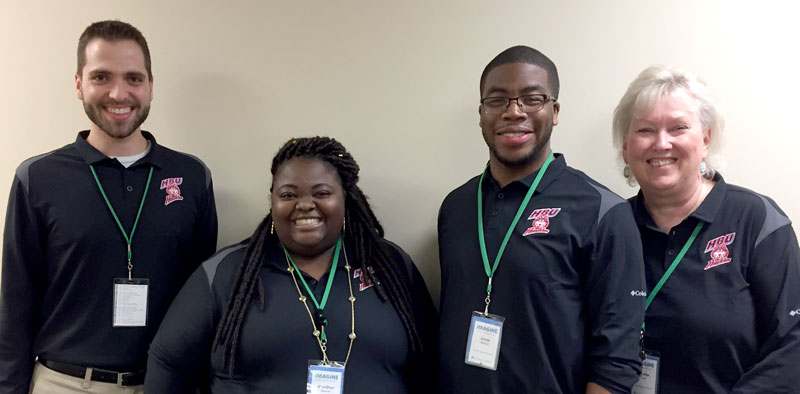 Garrett Smith, Mon'Sher Spencer, Jamar Mitchell and Colette Cross attended the Association for Christians in Student Development (ACSD) convention 2017.
