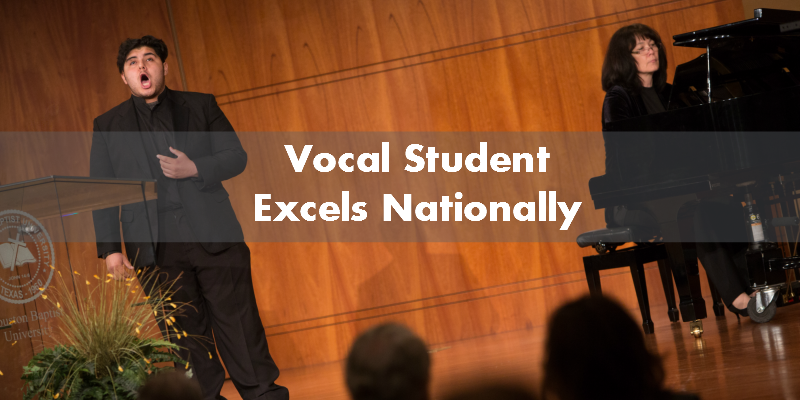 Vocal Student Excels Nationally