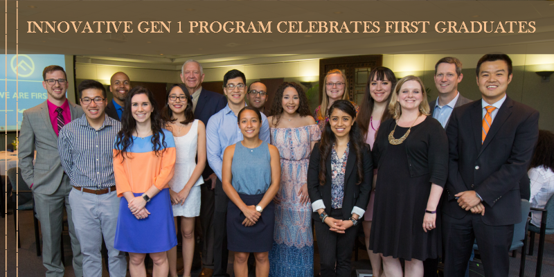 Innovative Gen 1 Program Celebrates First Graduates