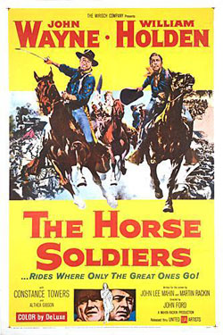 The Horse Soldiers official movie poster 1959