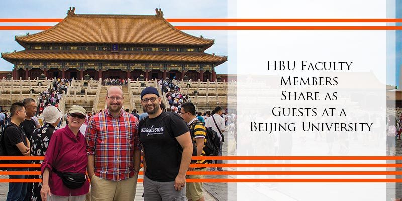 HBU Faculty Members Share as Guests at a Beijing University