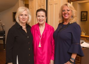 Sharon Saunders, Ruth Draper and Cheryl Kaminski at the Guild Installation in May at Morris House.