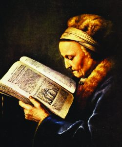 """Rembrandt's Mother"" by Gerard Dou"