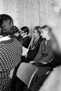 Nancy Pearcey pictured at L'Abri Universities in the 1970's