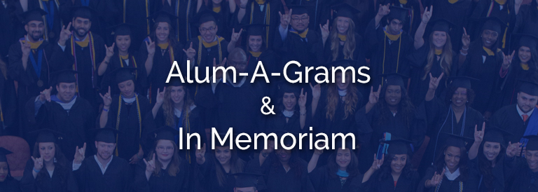 Fall 2020 Alum-a-Grams & In Memoriam