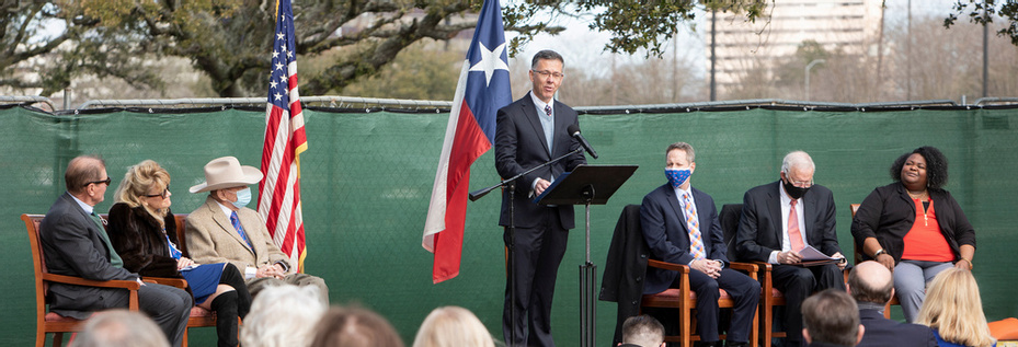 HBU Hosts a Construction Groundbreaking for The Morris Family Center for Law & Liberty