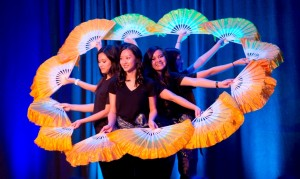 Student performing at International Week event