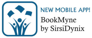 Bookmyne logo. Bookmyne is the library's mobile app for smartphones.