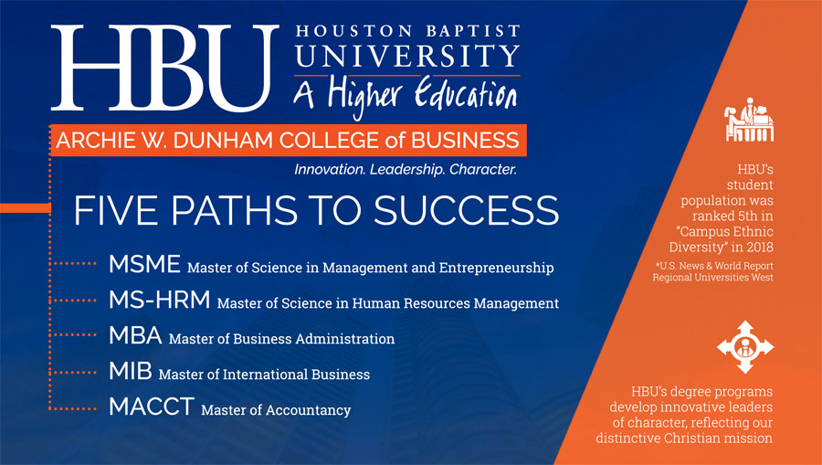 HBU College of Business: 5 Paths to Success