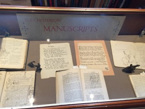 GK Chesterton manuscripts at the GKC Library
