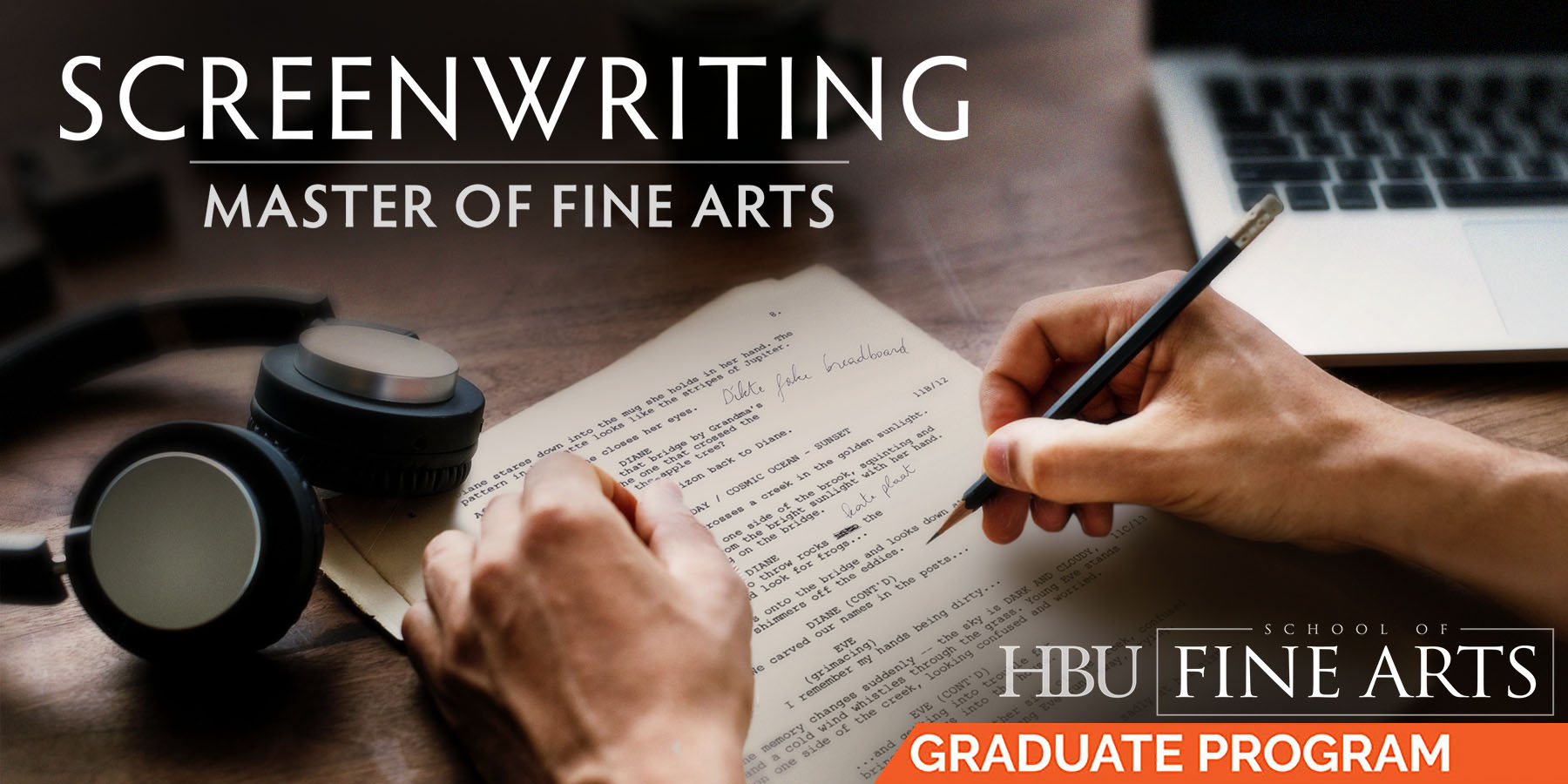 Master of Fine Arts in Screenwriting