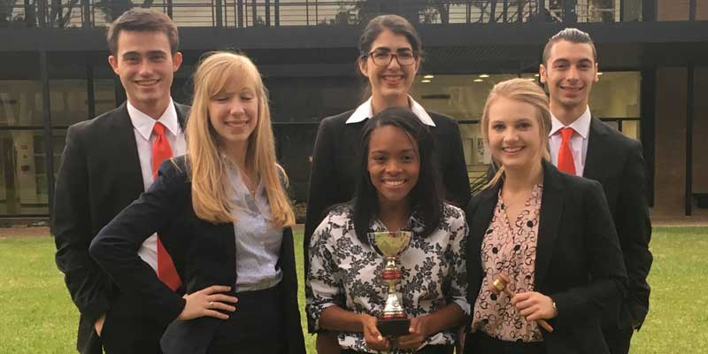 HBU Mock Trial Team wins trophy!