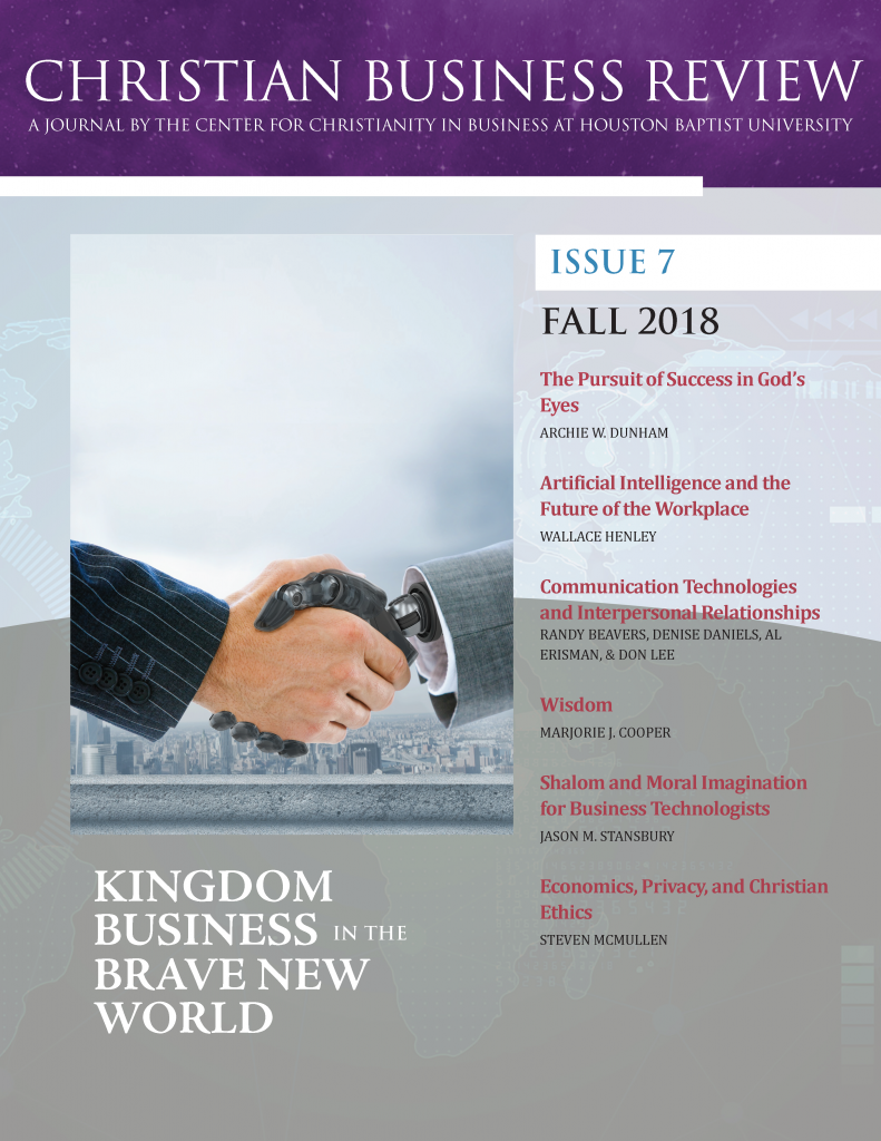 Read the Journal – Center for Christianity in Business (CCB)